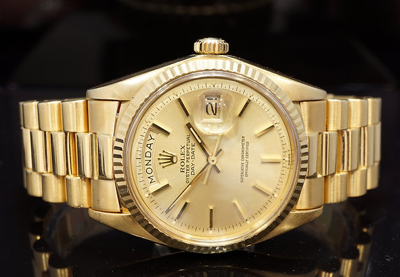 ROLEX 1979 Daydate 36, 18ct Yellow Gold, 1803, Boxed