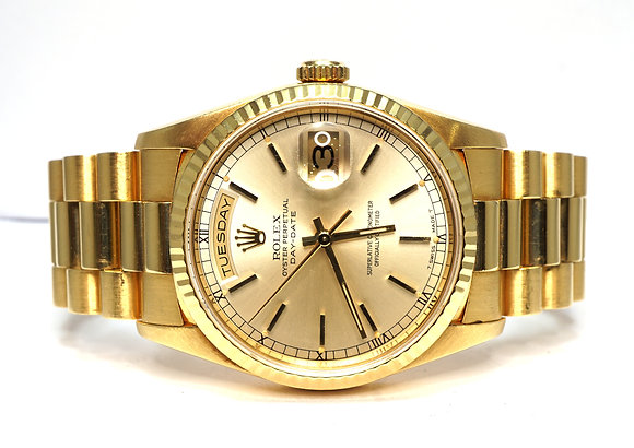 ROLEX 1992 Day-Date 36, 18238, 18ct Yellow Gold, Boxed