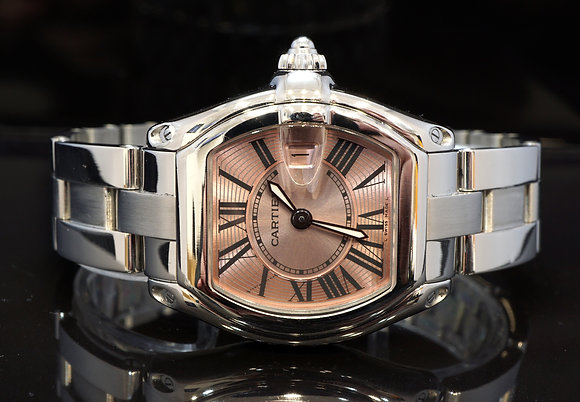 CARTIER 2005 Roadster Ladies, 2675, Steel , W62017V3, with Papers
