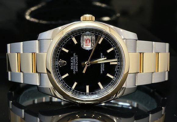 ROLEX 116203 Datejust, Steel & Gold, 2013, Box B&P