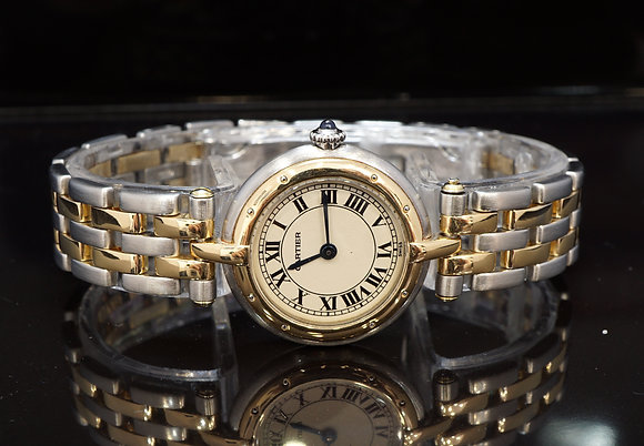 CARTIER Panthere VLC, 2 Row Steel & Gold, Quartz