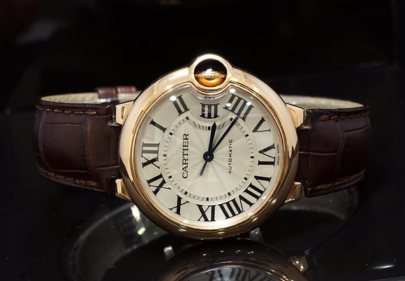 CARTIER 2013 33mm Ballon Bleu, 18ct Rose Gold, W6920097, Box & Papers