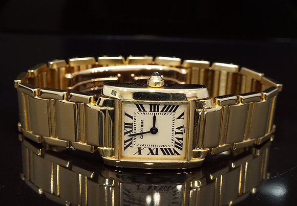 CARTIER Tank Francaise, 18ct Yellow Gold, 2385, Boxed