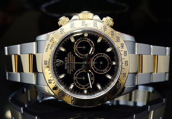 ROLEX 2013 Daytona, Steel & Gold, 116523, Rolex Service 02/17,MINT, Box & Papers