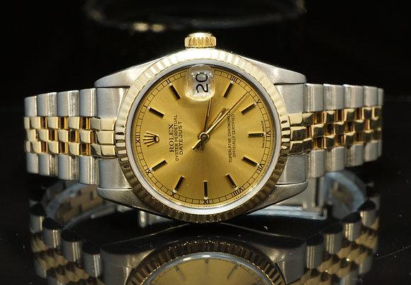ROLEX 31mm Ladies Datejust, Steel & Gold, 68273,  MINT