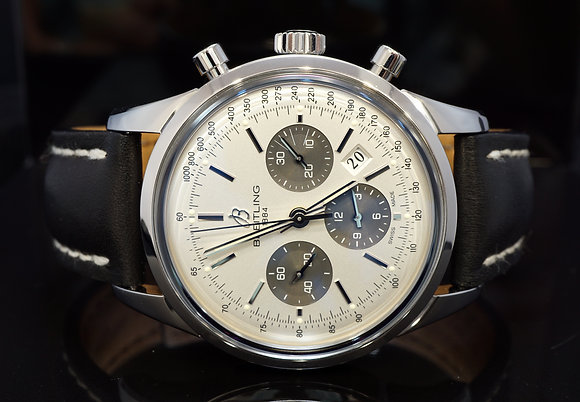 BREITLING 2018 Transocean Chronograph, AB015212, Steel, Like New, Box & Papers