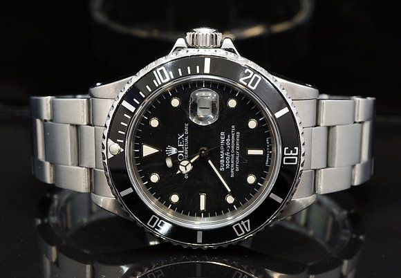 ROLEX 1987 Submariner Date, 168000, Rare Transitional Model, Boxed
