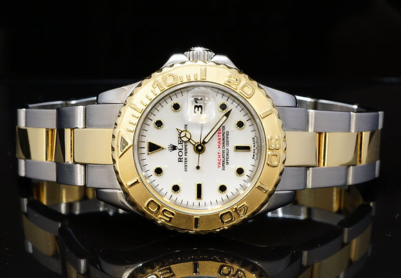 ROLEX 2004 29mm Yacht-Master, Steel & Gold, 169623, MINT, Box & Papers