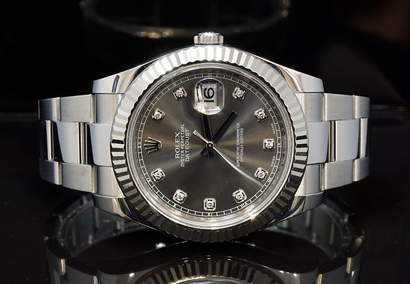 ROLEX 2016 Datejust II, 116334, Diamond Dot Dial, Box & Papers