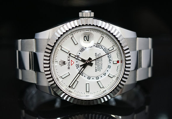 ROLEX 2020 Sky-Dweller, White Dial, Steel, 326934, Box & Papers