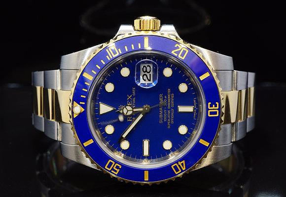 ROLEX 2011 Submariner, Steel & Gold, 116613LB, MINT, Box & Papers