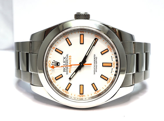 ROLEX 2007 Milgauss, 116400, White Dial, 1st Edition, Box & Papers