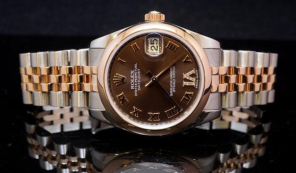 ROLEX, Midi, Steel & Rose Gold, 178241, 2012, B&P