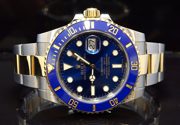 ROLEX 2015 Submariner, Steel & Gold, 116613LB, MINT, Box & Papers