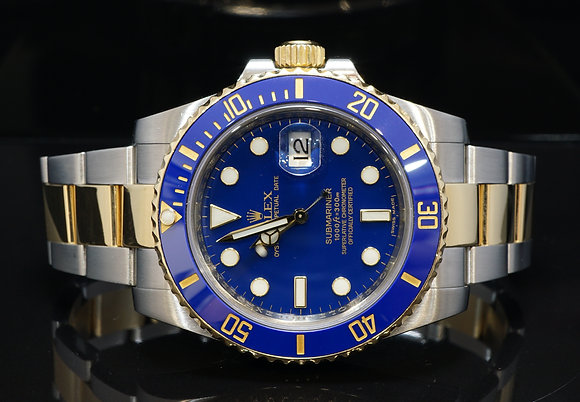 ROLEX 2010 Submariner, Steel & Gold, 116613LB, Box & Papers
