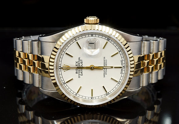 ROLEX 1994 Datejust 36, Steel & Gold, 16233, Box & Papers