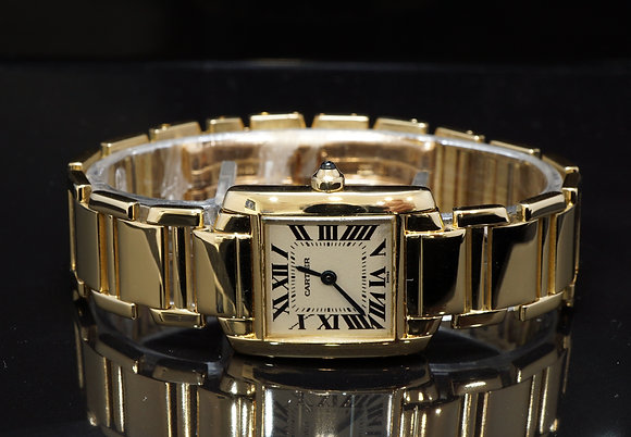 CARTIER Tank Francaise, 18ct Yellow Gold, 1820, Service History, Boxed