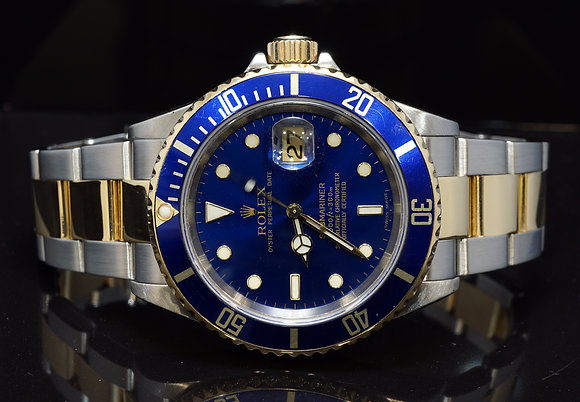 ROLEX 2005 Submariner, Steel & Gold, 16613, Boxed