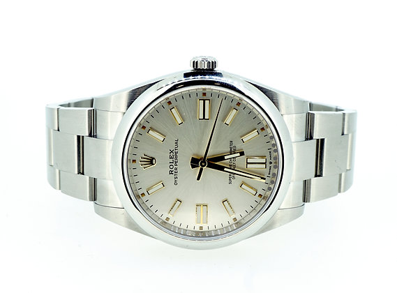 ROLEX 2020 Oyster Perpetual 41, 124300, Silver Dial, Box & Papers