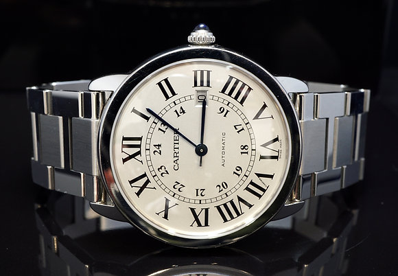 CARTIER 2013 Ronde Solo XL, Automatic, W6701011, Box & Papers