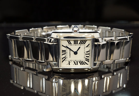 CARTIER Tank Francaise, 18ct White Gold, 2403, W50012S3, Boxed