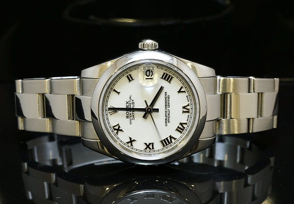 ROLEX 2008 31mm Datejust, Steel, 178240, MINT, Box & Papers