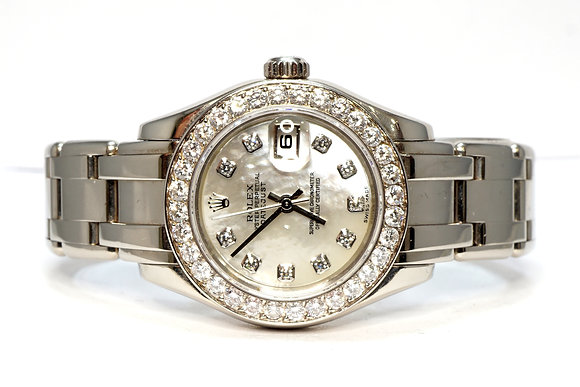 ROLEX 2002 Pearlmaster 29, 80299, Diamond Bezel, MOP Diamond Dial, Box & Papers