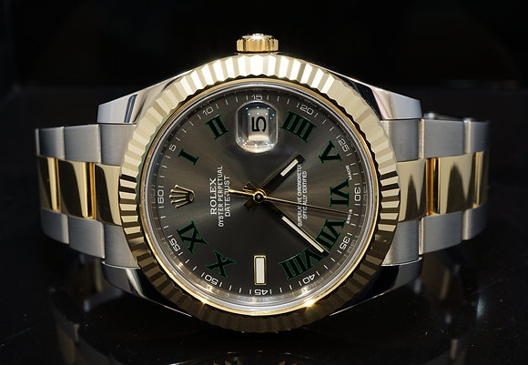 "ROLEX 2015 Datejust II, ""Wimbledon"", Steel & Gold, 116333, Box & Papers"