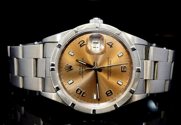 ROLEX 1999 34mm Date, Steel, 15010, MINT, Boxed