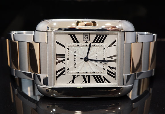 CARTIER Tank Anglaise XL, Steel & Rose Gold, W5310006, Box & Papers
