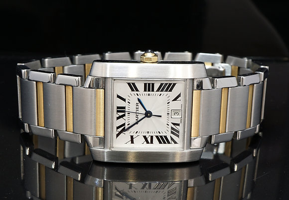 CARTIER Tank Francaise, Steel & Gold, Large, Automatic, 2302