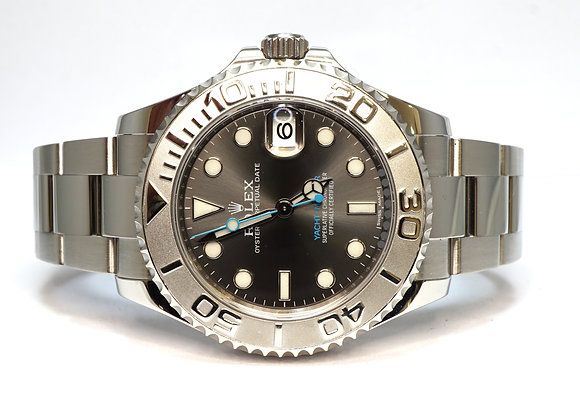 ROLEX 2017 Yacht-Master 37, 268622, Rhodium Dial, Box & Papers