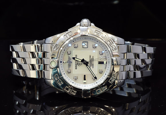 BREITLING 2016 Galactic 32, Steel, MOP Diamond Dot, A71356L2, Box & Papers