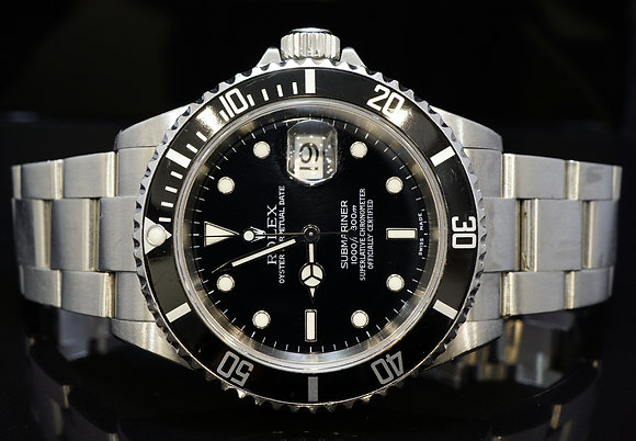 ROLEX 2004 Submariner Date, 16610T, Unpolished, Box & Papers