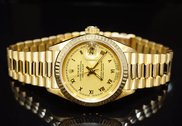 ROLEX 1991 26mm Datejust, 18ct Yellow Gold, 69178, Boxed