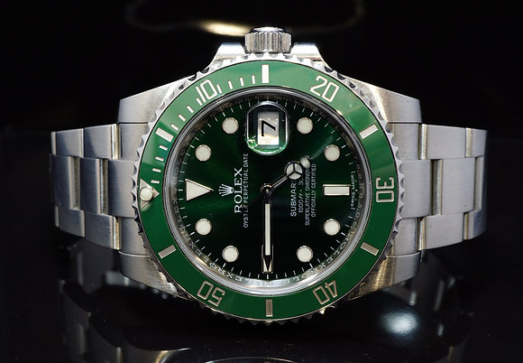 "ROLEX 2016 Submariner ""HULK"", 116610LV, MINT, Box & Papers"