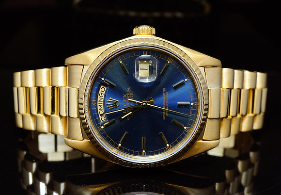 ROLEX 18ct Yellow Gold Daydate, 18038, Box & Papers