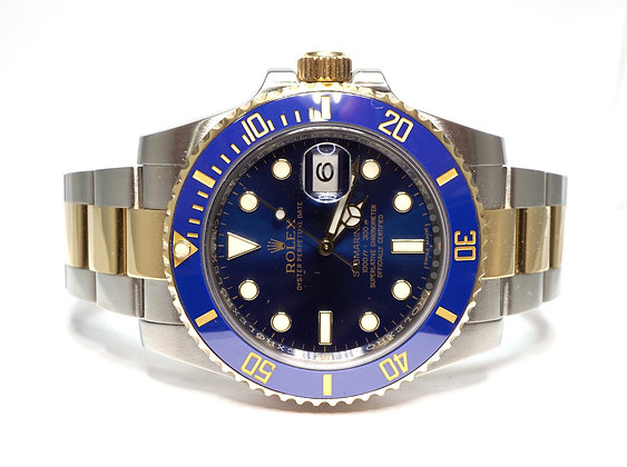 ROLEX 2014 Submariner, 116613LB, Steel & Gold, Box & Papers