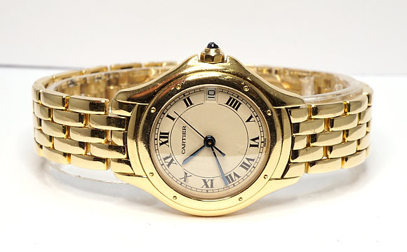 CARTIER 1995 Cougar Ladies, 18ct Yellow Gold, Box & Papers