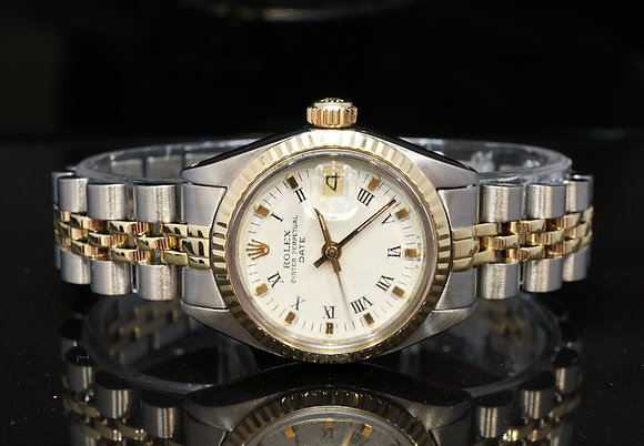 ROLEX 26mm Datejust, Steel & Gold, 6916/3, Box & Papers