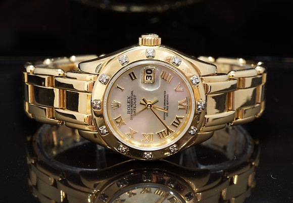 ROLEX 2000 Pearlmaster 29, 80318, MOP Dial, Diamond Bezel, Boxed