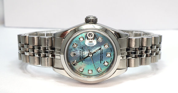 ROLEX 1993 Datejust 26, 69160, Blue Mother of Pearl Dial, Box & Papers
