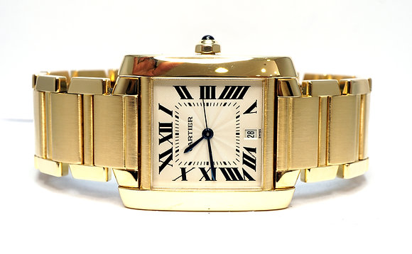 CARTIER 1996 Tank Francaise, W50001R2, 18ct Yellow Gold, Box & Papers, Serviced