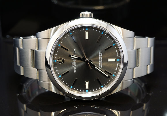 ROLEX 2016 Oyster Perpetual 39, Rhodium, 114300, Box & Papers