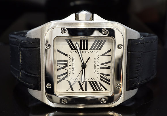 CARTIER 2005 Santos 100XL, Steel, Auto, W20073X8, Box & Papers