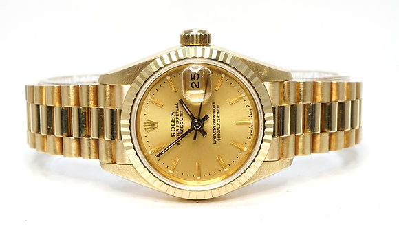 ROLEX 1993 Datejust 26, 69178, 18ct Yellow Gold, Just Serviced, Box & Papers