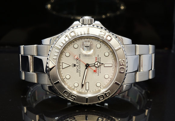 ROLEX 2004 Yacht-Mater 40, Platinum Bezel, 16622, Box & Papers