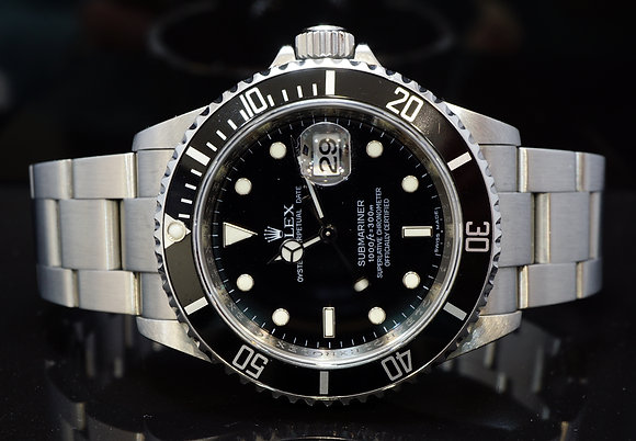 ROLEX 2009 Submariner, Steel, 16610, MINT, Box & Papers