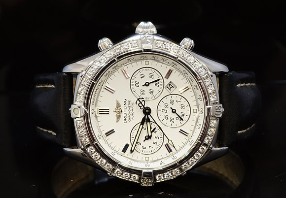 BREITLING Shadow Flyback windrider, Diamond Bezel, A35312, MINT, Boxed