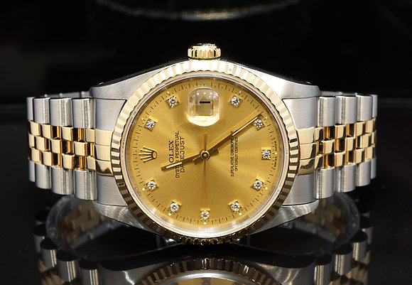 ROLEX 1991 Datejust 36, 16233, Diamond Dot Dial, Boxed